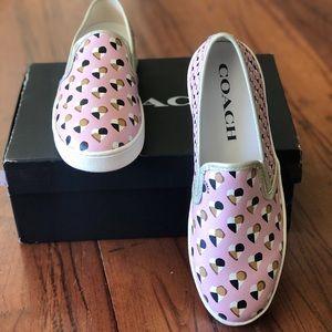 NIB Coach slip on hearts size 11 women shoes